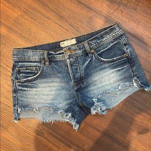 Free People Denim Shorts Cutoff Style NWOT